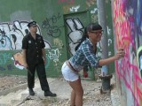 Sexy deliquent fucked by a rutting cop